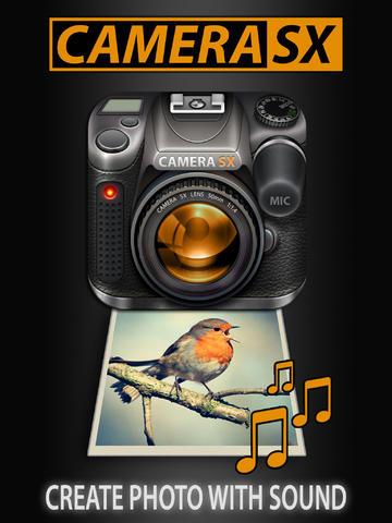 Camera SX for iPad : Photo with Sound screenshot 1