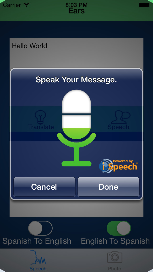 See It Say It Live Translate Language Dictionary screenshot 1