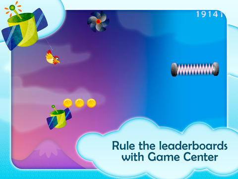 Chicken Dynamo HD FREE - Tilt and Fly screenshot 5
