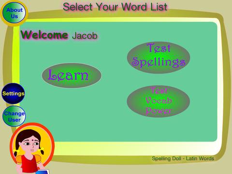 Spelling Doll English Words From Greek Vocabulary Quiz Grammar screenshot 8