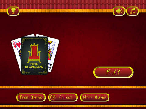 American BlackJack Casino King - Grand Vegas chips betting table screenshot 5