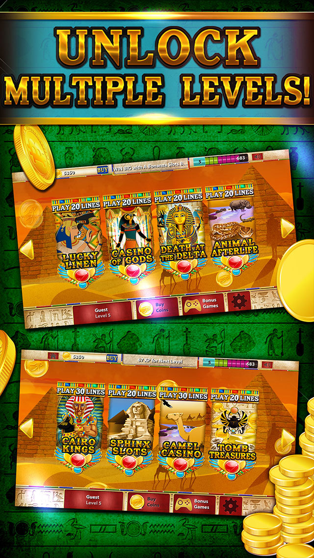 Pharaoh's Party Jackpot Casino - Social Slots Supreme (3D Crack Xtreme Craze) screenshot 2