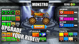 Mad Truck Challenge - Destroy cars and perform extreme stunts in this hill climb racing game screenshot 2