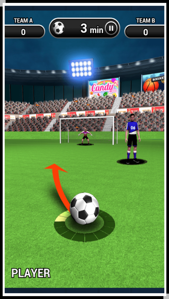3D World Soccer Free Kick screenshot 3