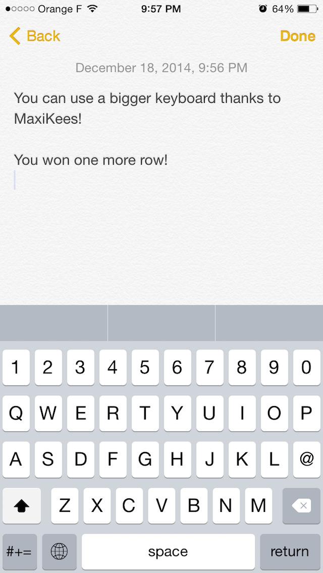 MaxiKees - Big Keyboard with More Keys screenshot 1