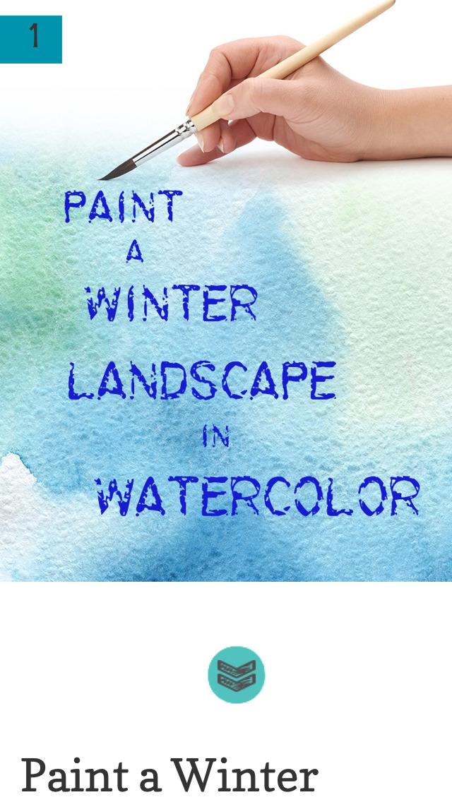 Paint a Winter Landscape in Watercolor screenshot 3