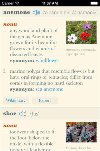 Dictionary+ HD: Elegant offline dictionary with im - náhled