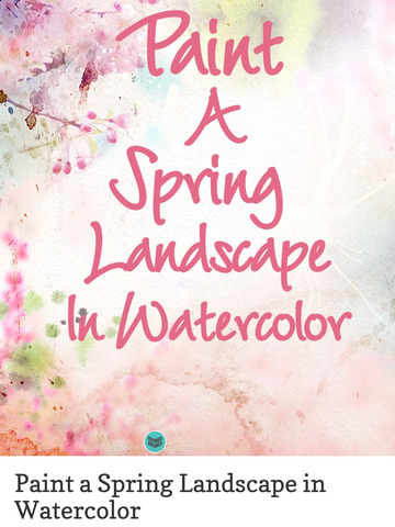 Paint a Spring Landscape in Watercolor screenshot 8
