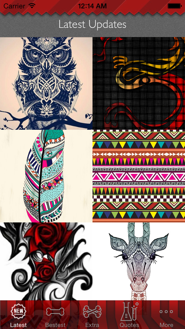 Tribal Art Theme HD Wallpaper and Best Inspirational Quotes