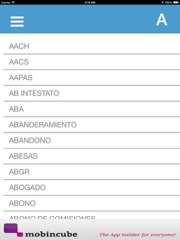 Diccionario de Seguros screenshot 8