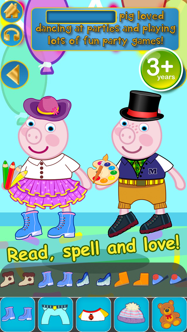 My Interactive Happy Little Pig Story Book Dress Up Time Game - Advert Free App screenshot 3