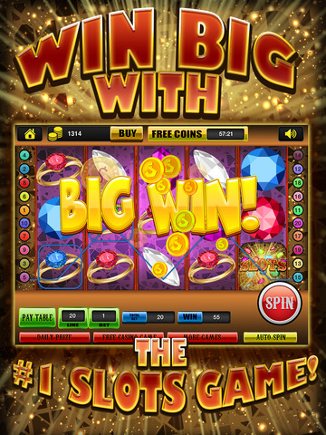 Ace Gem & Jewel Slots Jackpot Machine Games - Lucky Spin To Win Prize Wheel Casino Game HD screenshot 5