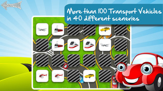 Free Memo Game Transport Cartoon screenshot 5