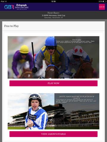 Telegraph Fantasy Racing screenshot #1
