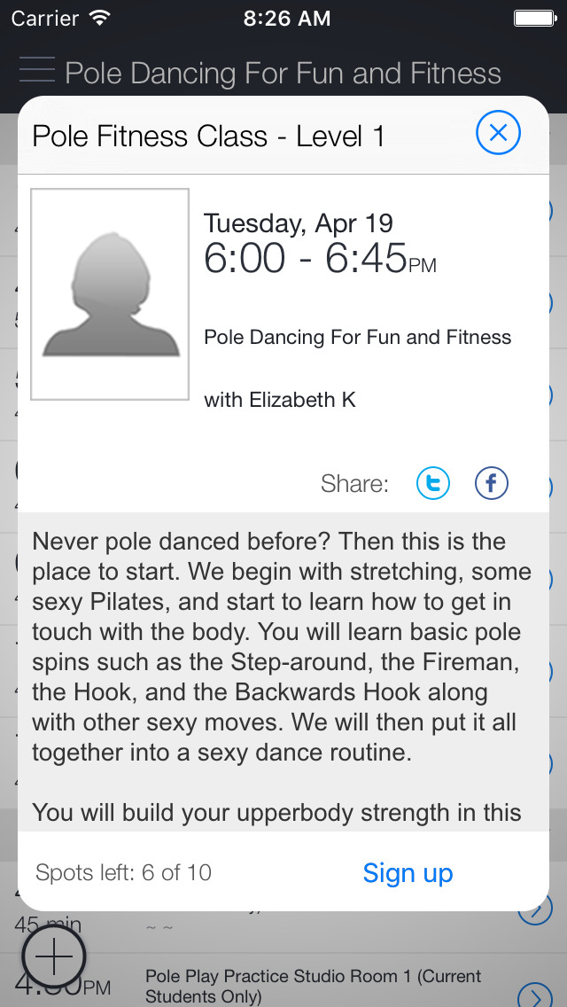 Stiletto Fitness screenshot 2
