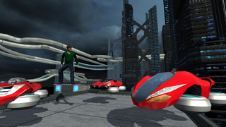 Hover Car Parking Simulator - Flying Hoverboard Car City Racing Game FREE screenshot 1