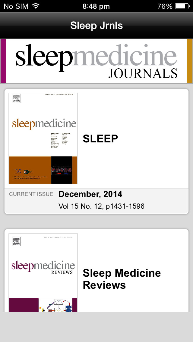 Sleep Medicine Journals screenshot 2