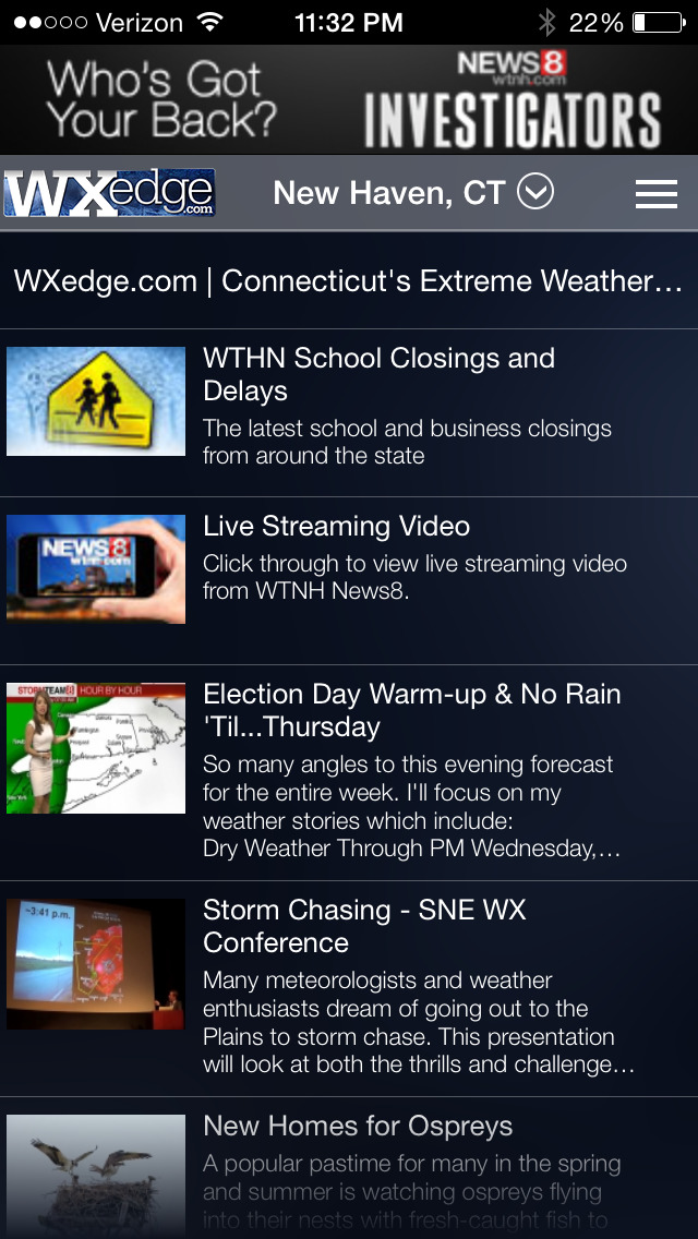StormTeam8 - WTNH Weather | Apps | 148Apps