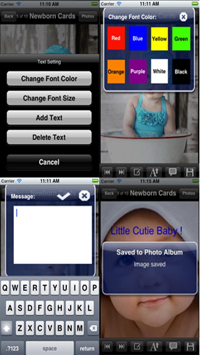 Newborn Baby Greeting Cards screenshot 4