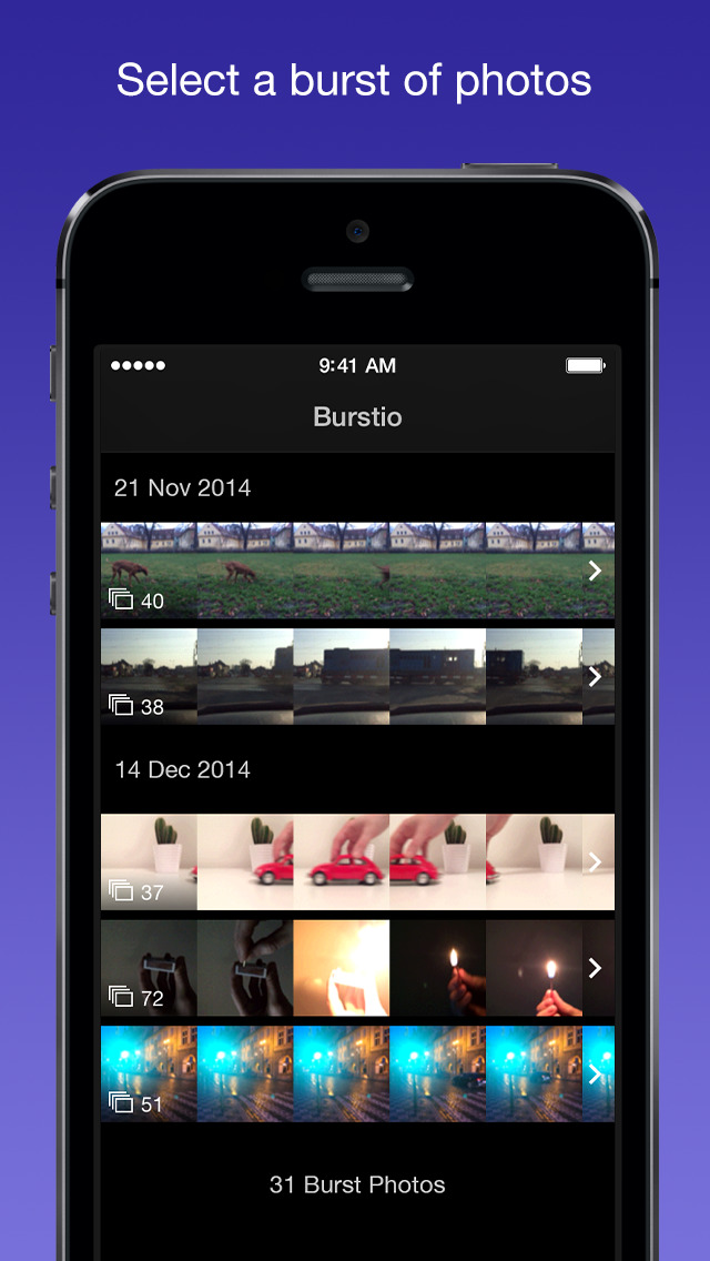 Burstio – Animate your burst photos screenshot 1