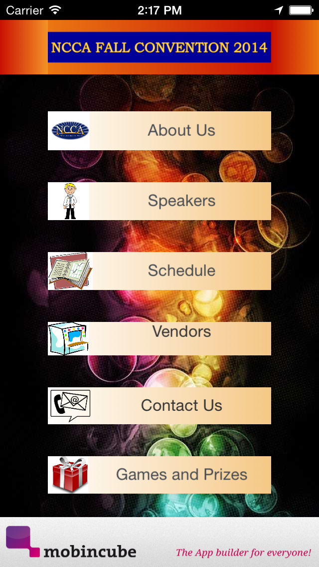 NCCA Event App screenshot 2