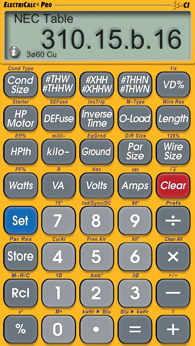 ElectriCalc Pro screenshot 3