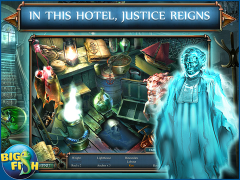 Haunted Hotel: Death Sentence HD - A Supernatural Hidden Objects Game screenshot 2