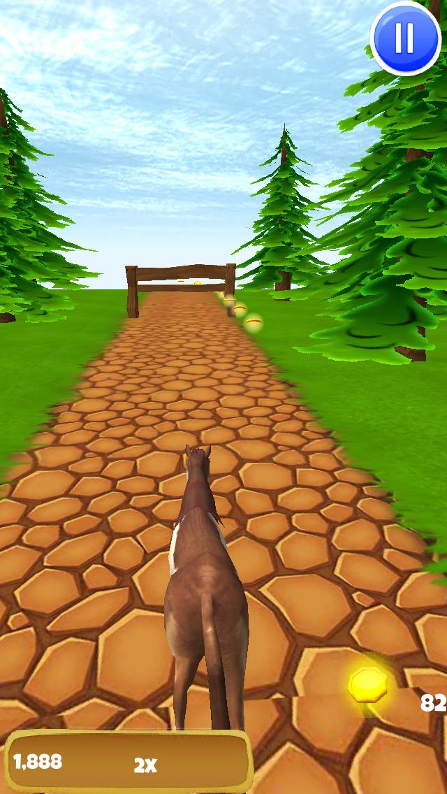 Horse Ride: Wild Trail Run & Jump Game - Pro Edition screenshot 3