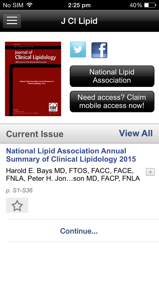 Journal of Clinical Lipidology screenshot 3