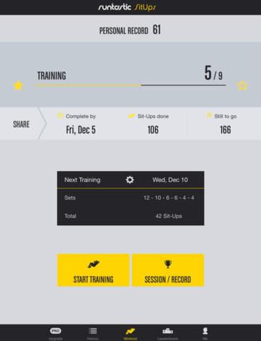 Runtastic Sit Ups: Abs Trainer & Counter screenshot 6