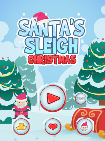 `A Santa's Sleigh Run Ride: Frozen Christmas screenshot 4