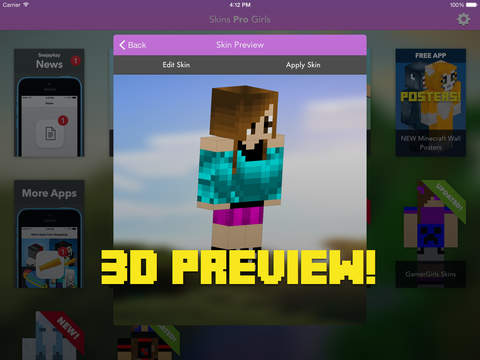 Skins Pro Girls for Minecraft screenshot 7