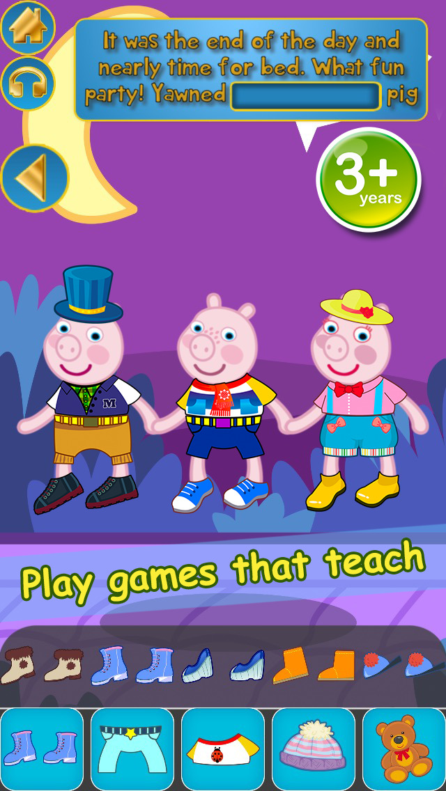 My Interactive Happy Little Pig Story Book Dress Up Time Game - Free App screenshot 5