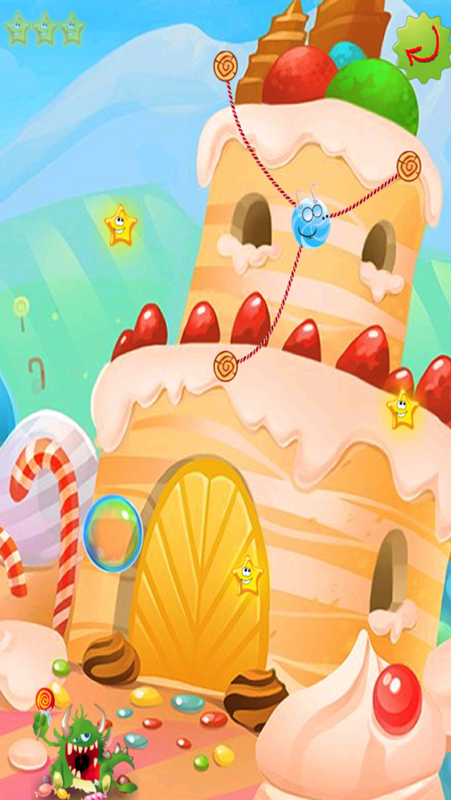 Rope Castle : The Monster Cut Candy screenshot 4