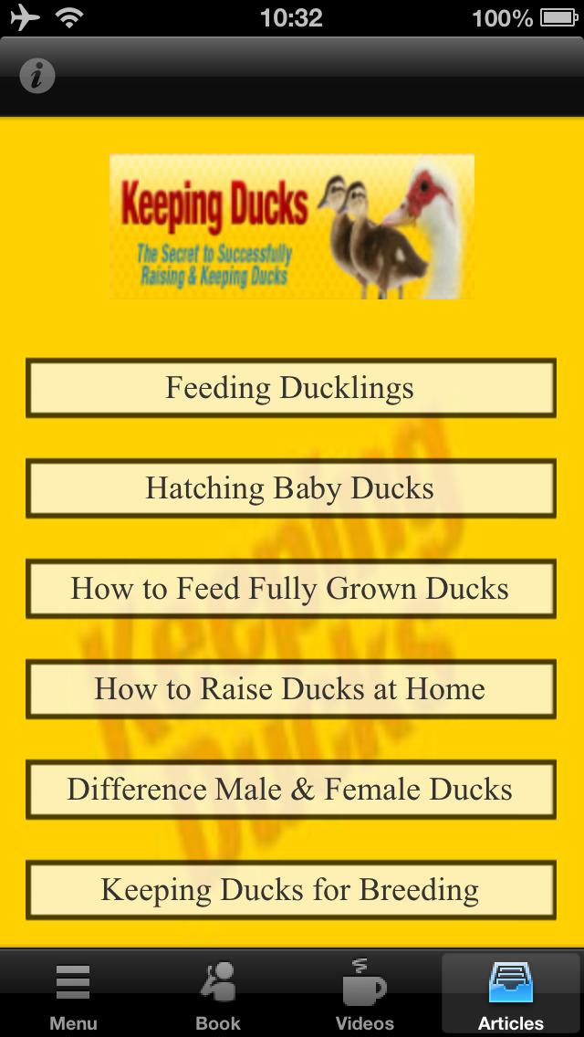 Keeping Ducks:The Secret Success of Keeping and Raising