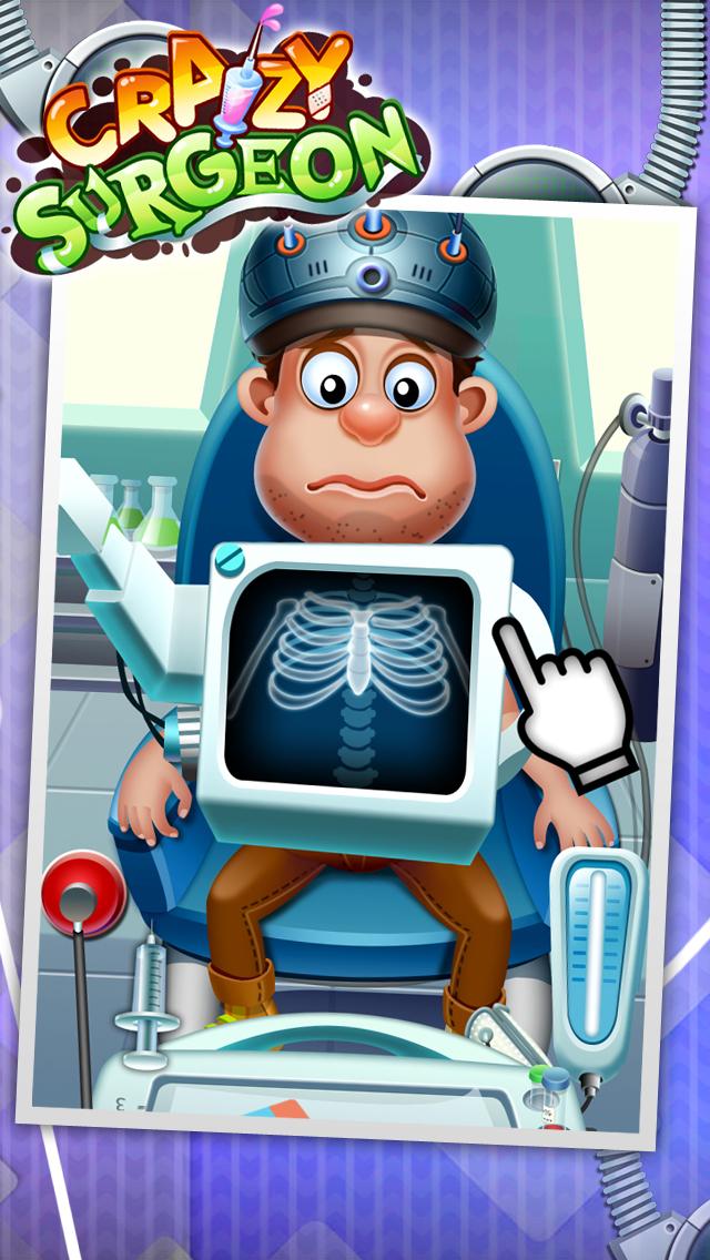 Crazy Surgeon - casual free kids games & doctor game screenshot 1