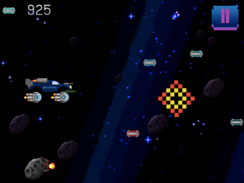 Retro Shooting Monster Truck In Space Racing Game screenshot 6