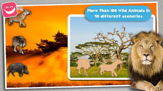 Wildlife Animals Jigsaw for young kids with simba screenshot 3