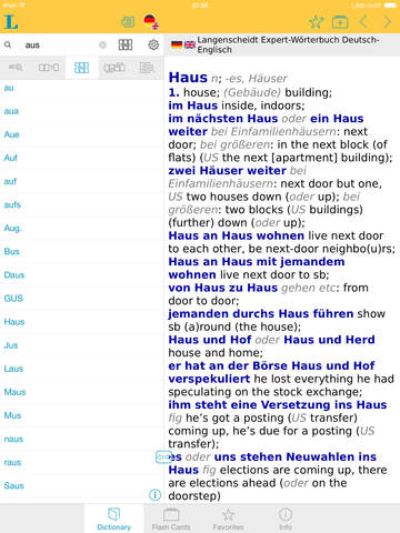 German English XXL Dictionary screenshot 9