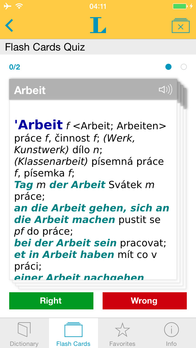 German Czech Dictionary screenshot 3