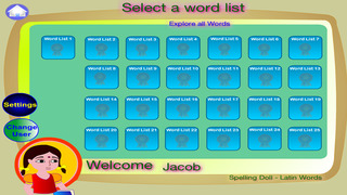 Spelling Doll English Words from German Vocabulary Quiz Grammar screenshot 1