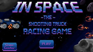Retro Shooting Monster Truck In Space Racing Game screenshot 4