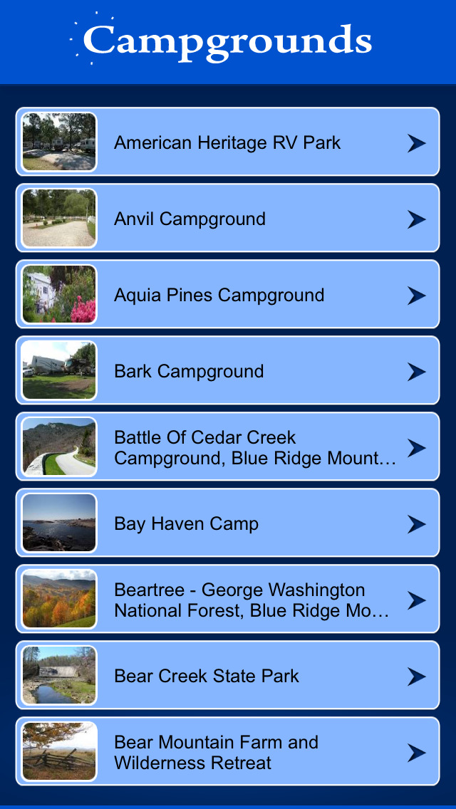 Virginia Campgrounds Guide screenshot 2