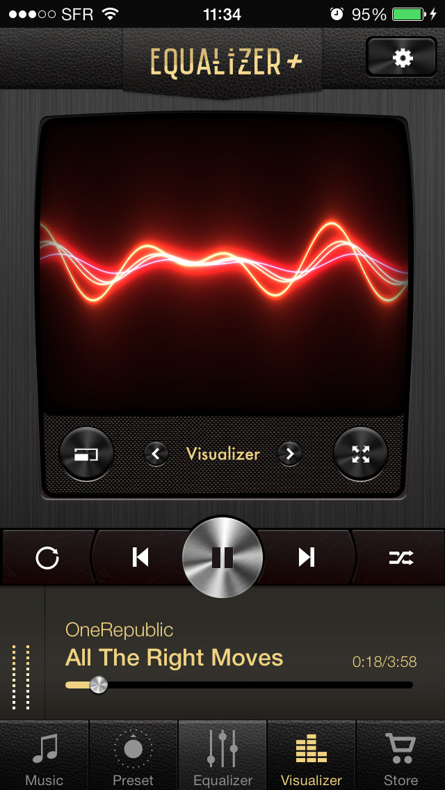 Equalizer+ HD music player screenshot 3