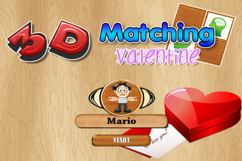 `` 3D Matching Valentine Cards PRO - Train your br - náhled
