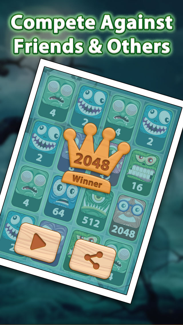 2048 Aaah! Halloween Pro screenshot 3