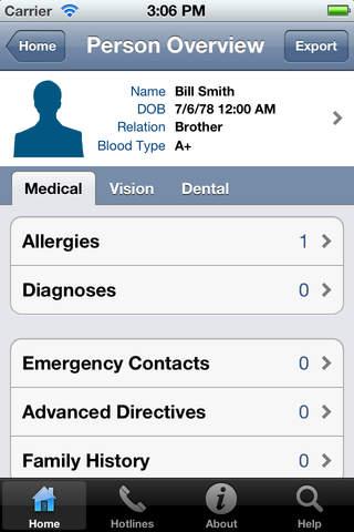 Family Medical Manager - náhled