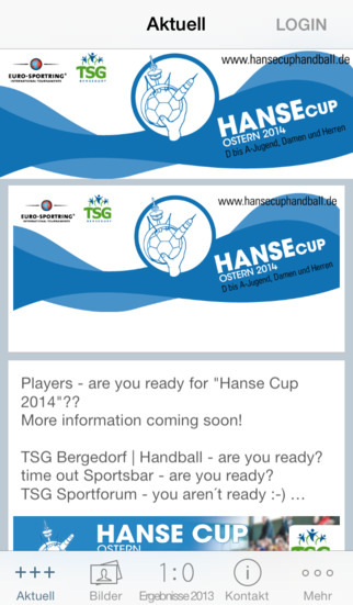 Hanse Cup Handball screenshot 1