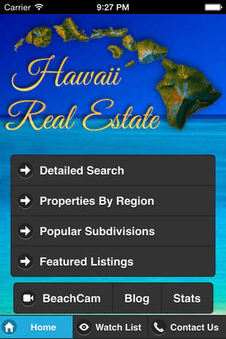 Hawaii Real Estate app - náhled