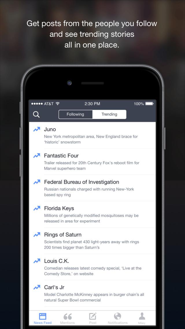 Facebook Mentions screenshot 4